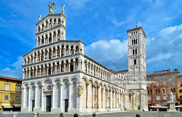 San Michele in Foro facade and side view, Lucca