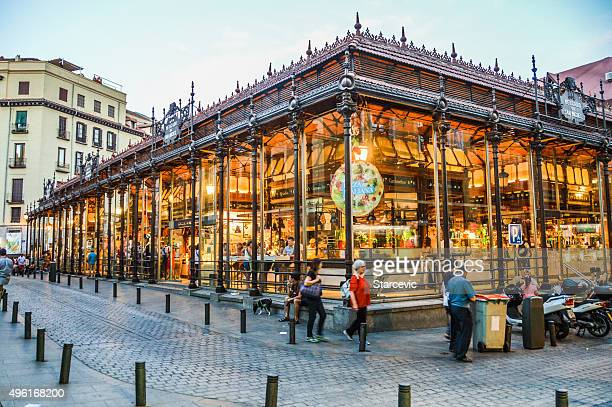 san migeul market in madrid, spain - madrid stock pictures, royalty-free photos & images