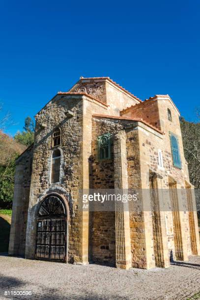 san miguel de lillo in oviedo, asturias, spain - oviedo stock pictures, royalty-free photos & images
