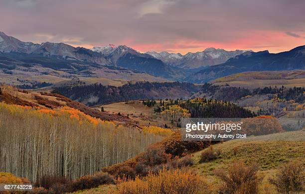 san miguel mountain range - mt wilson colorado stock photos and pictures