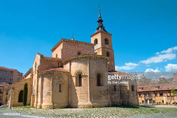 san millan church - segovia stock pictures, royalty-free photos & images