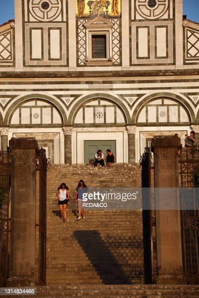 San Miniato Al Monte Church. Florence. Tuscany. Italy. Europe.