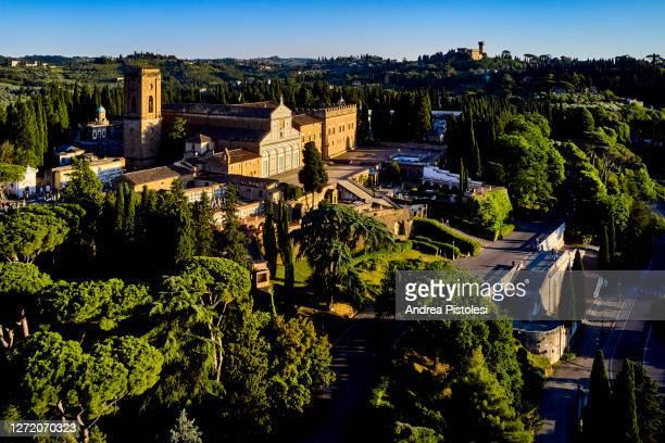 san miniato al monte church in florence, italy - san miniato stock pictures, royalty-free photos & images