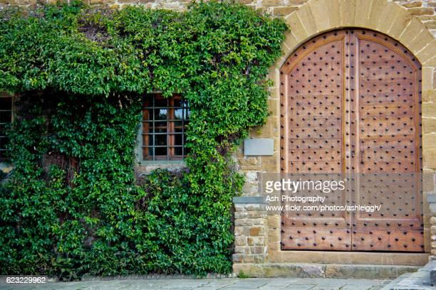 san miniato al monte door - florence, italy - san miniato stock pictures, royalty-free photos & images