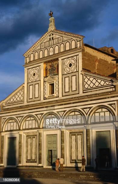 san miniato al monte in florence - san miniato stock pictures, royalty-free photos & images