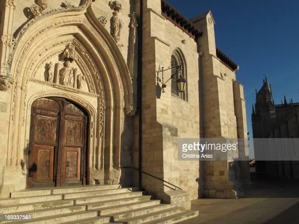 San Nicolas de Bari gothic church beside StJames Way in Burgos Castile and León Spain