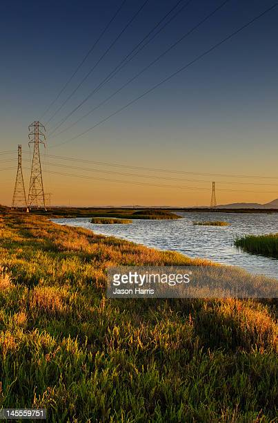 San Pablo bay marsh at sunset