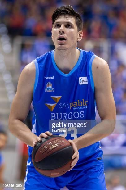 San Pablo Burgos Goran Huskic during Liga Endesa match between San Pablo Burgos and Iberostar Tenerife at Coliseum in Burgos Spain on November 25 2018