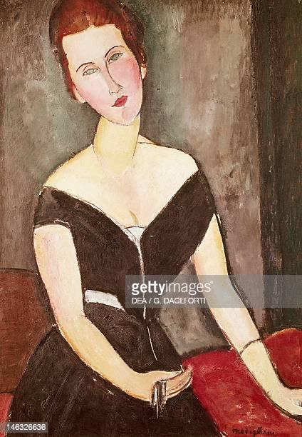 San Paolo Museu De Arte De Sao Paulo Portrait of Madame Georges Van Muyden by Amedeo Modigliani oil on canvas