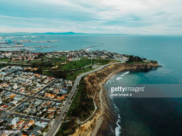 san pedro coast line - california stock pictures, royalty-free photos & images