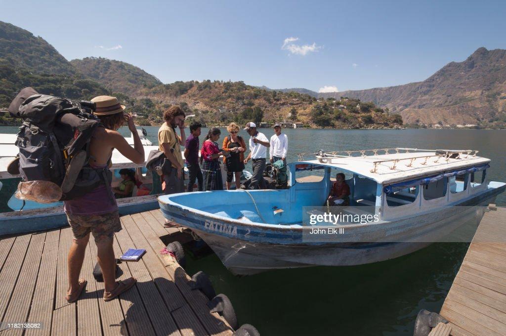 San Pedro La Laguna boat dock : Stock Photo