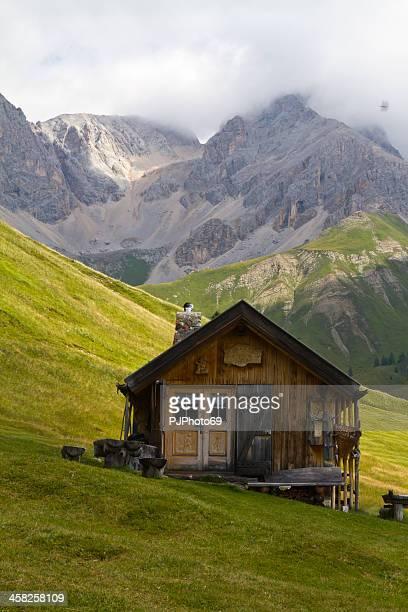 San Pellegrino Pass (Dolomites) - Tyrolean chalet