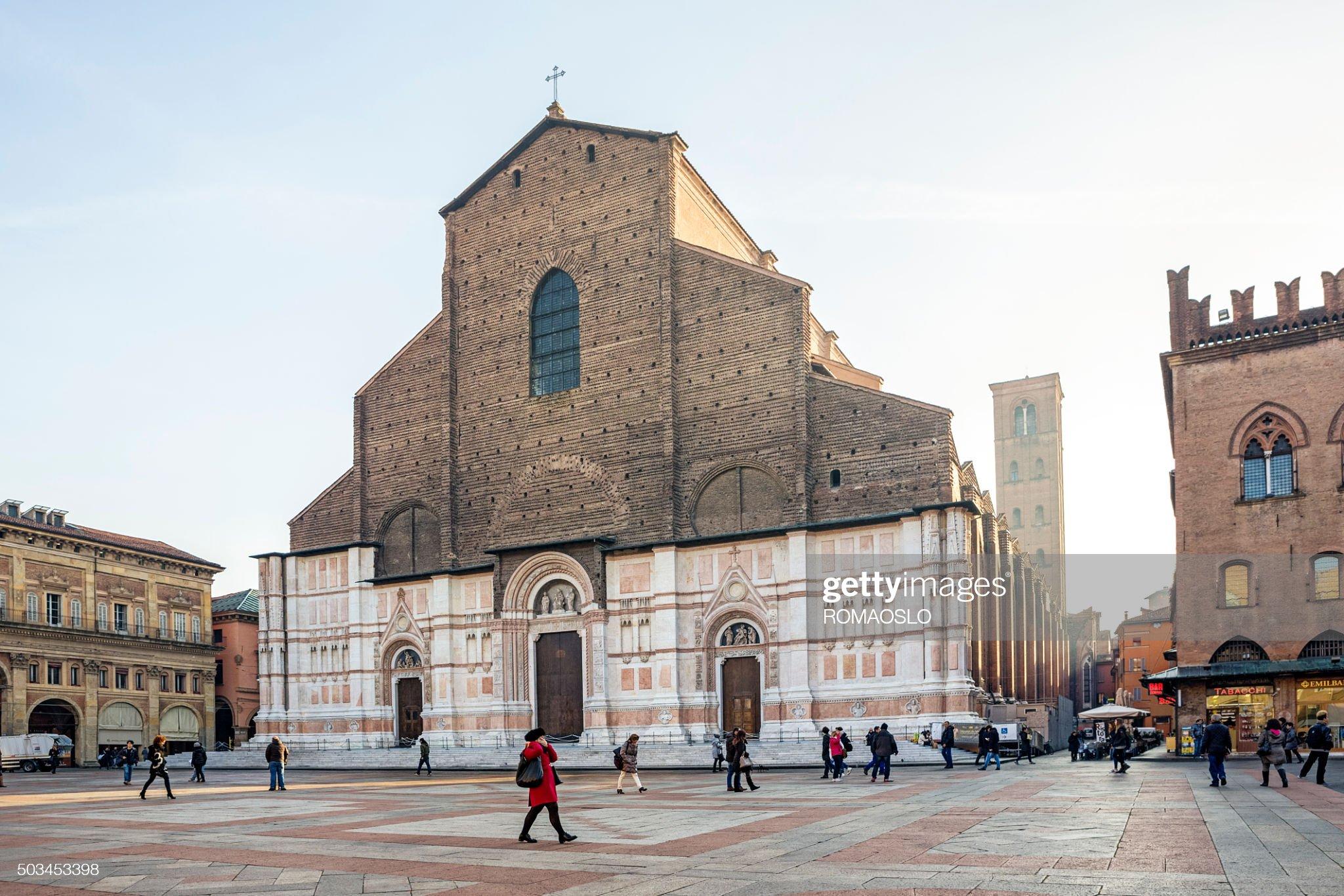 Basilica di San Petronio in Piazza Maggiore, Bologna, Italia : Foto stock
