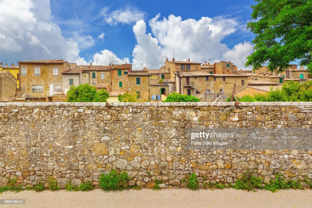 San Quirico d'Orcia in Tuscany, Italy : Stock Photo