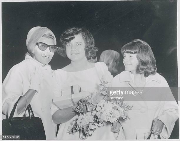 San Rafael California Actress Rita Hayworth attended her daughter Rebecca Welles' graduation exercises at Katherine Branson School at Ross California...