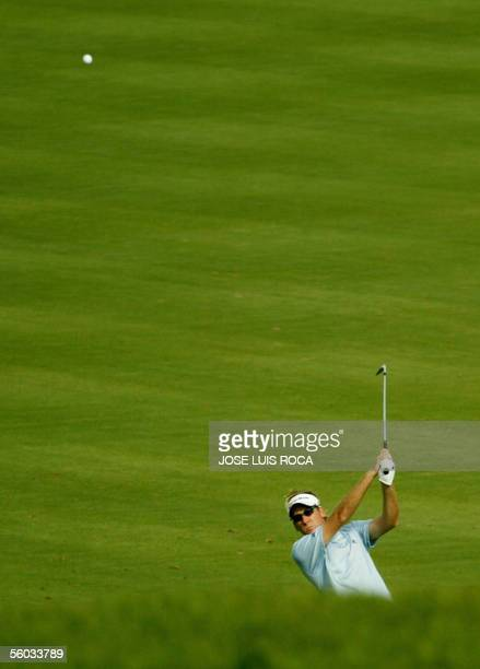 British Ian Poulter in action on the 14th hole during the fourth round of the Volvo Masters Championshi at the Valderrama Golf Club, 30 October 2005...