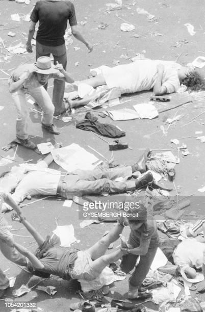 San Salvador dimanche 30 Mars 1980 Lors des obsèques de Mgr Oscar Romero archevêque de San Salvador assassiné le 24 mars par une milice d'extrême...