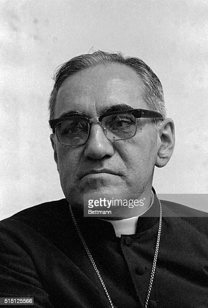 San Salvador's Archbishop Oscar Arnulfo Romero is at an altar in this undated previously unserviced picture The archbishop was shot tot death while...