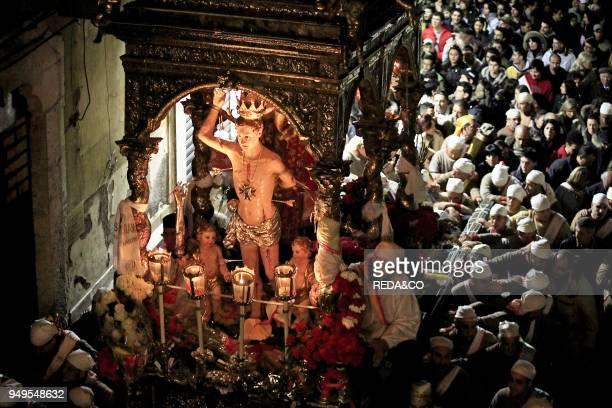 San Sebastian feast Acireale Sicily Italy