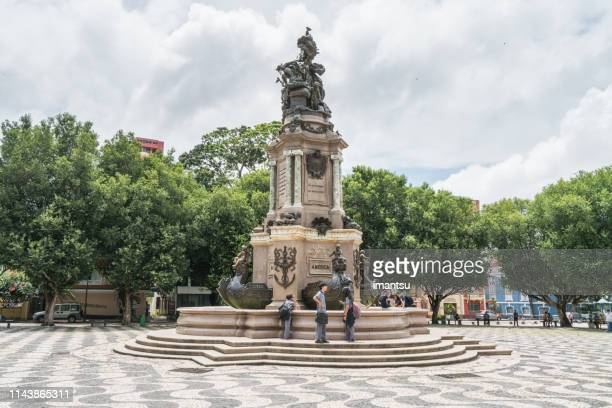 san sebastian square in manaus downtown, brazil - manaus stock pictures, royalty-free photos & images