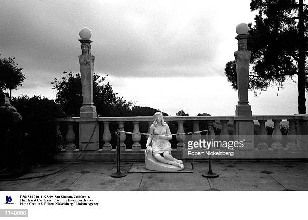 San Simeon, California. The Hearst Castle seen from the lower porch area. Photo Credit: Robert Nickelsberg / Liaison Agency