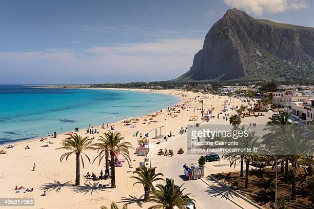 san vito lo capo beach - palermo sicily stock photos and pictures