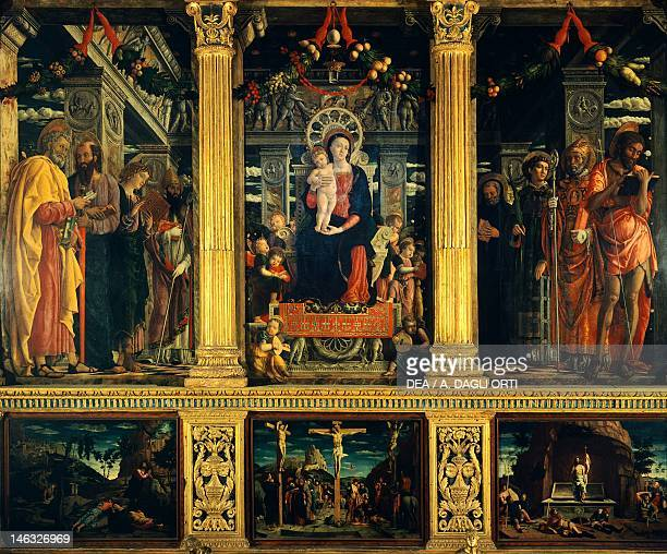 San Zeno Altarpiece 14561460 by Andrea Mantegna wood 220x115 cm Basilica of San Zeno Verona