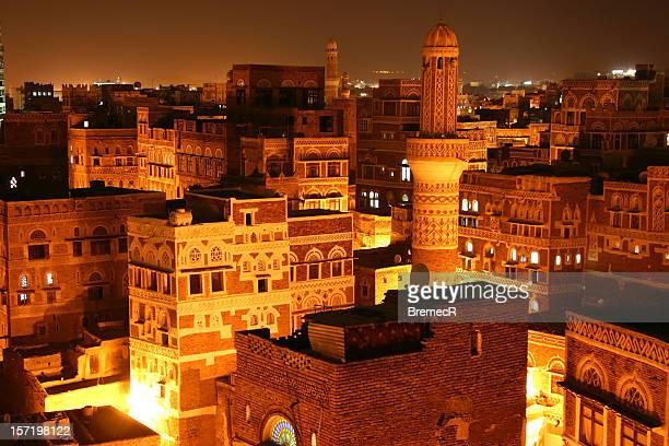 Sana'a by night
