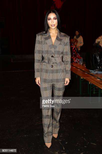 Sanaa El Mahalli aka Sananas attends the Jour/ne show as part of the Paris Fashion Week Womenswear Fall/Winter 2018/2019 on February 27 2018 in Paris...