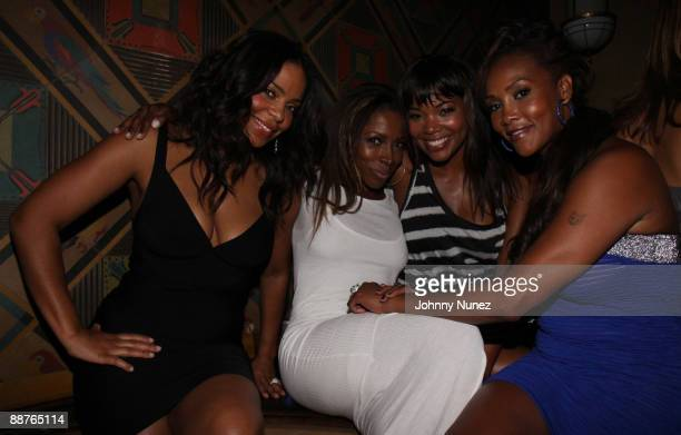 Sanaa Lathan AJ Johnson Gabrielle Union and Vivica Fox attend the Steve Rifkind and SRC Late Night after party In Honor of Stephen Hill at Union...