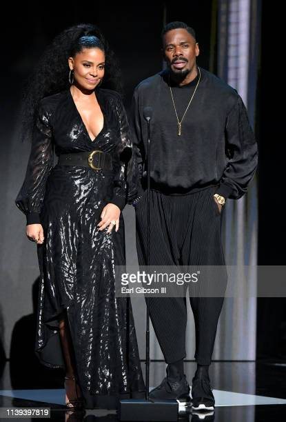 Sanaa Lathan and Colman Domingo speak onstage at the 50th NAACP Image Awards at Dolby Theatre on March 30 2019 in Hollywood California