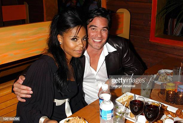 """Sanaa Lathan and Dean Cain during 2003 Toronto International Film Festival - """"Out of Time"""" Party at Bamboo By The Bay in Toronto, Ontario, Canada."""