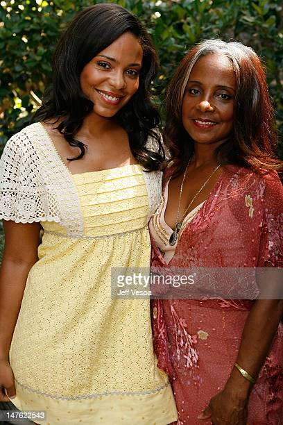 Sanaa Lathan and Eleanor McCoy attend Jurlique's Biodynamic BBQ hosted by Brett Ratner at Hilhaven Lodge on July 26 2008 in Los Angeles California