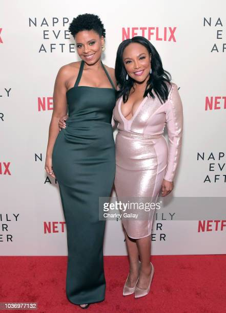 Sanaa Lathan and Lynn Whitfield attend a screening of Netlfix's Nappily Ever After at Harmony Gold Theatre on September 20 2018 in Los Angeles...