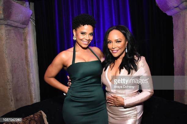 Sanaa Lathan and Lynn Whitfield attend the afterparty for a screening of Netlfix's 'Nappily Ever After' at Teddy's on September 20 2018 in Los...