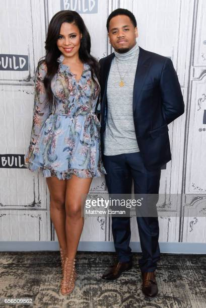 Sanaa Lathan and Mack Wilds attend Build Series Presents Sanaa Lathan Mack Wilds discussing 'Shots Fired' at Build Studio on March 22 2017 in New...