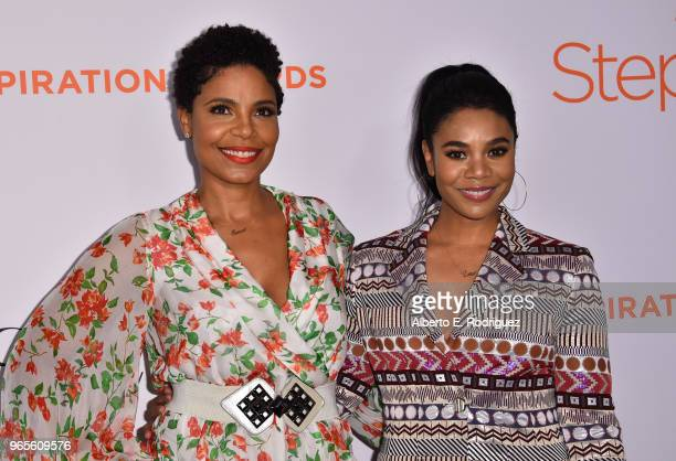 Sanaa Lathan and Regina Hall attend Step Up's 14th annual Inspiration Awards at the Beverly Wilshire Four Seasons Hotel on June 1 2018 in Beverly...