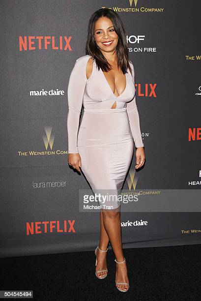 Sanaa Lathan arrives at the 2016 Weinstein Company and Netflix Golden Globes afterparty held on January 10 2016 in Los Angeles California