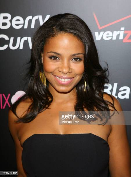 Sanaa Lathan arrives to the launch party of the pink Blackberry Curve on the 15th Anniversary of the Intermix clothing boutique held at Intermix on...