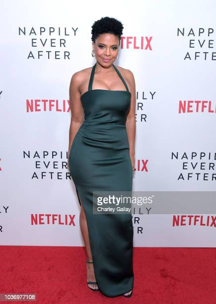 Sanaa Lathan attends a screening of Netlfix's 'Nappily Ever After' at Harmony Gold Theatre on September 20 2018 in Los Angeles California