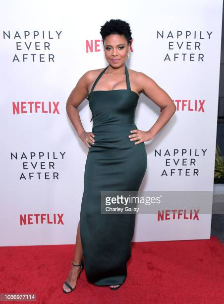 Sanaa Lathan attends a screening of Netlfix's Nappily Ever After at Harmony Gold Theatre on September 20 2018 in Los Angeles California