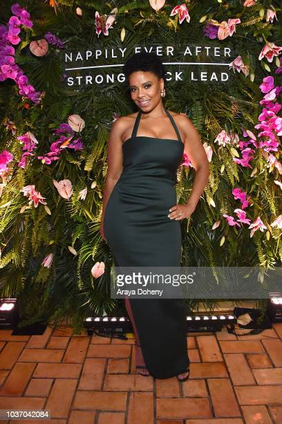 Sanaa Lathan attends the afterparty for a screening of Netlfix's 'Nappily Ever After' at Teddy's on September 20 2018 in Los Angeles California