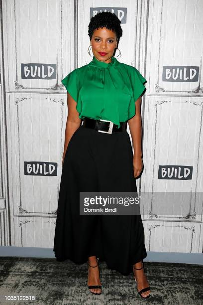 Sanaa Lathan attends the Build Series to discuss 'Nappily Ever After' at Build Studio on September 17 2018 in New York City