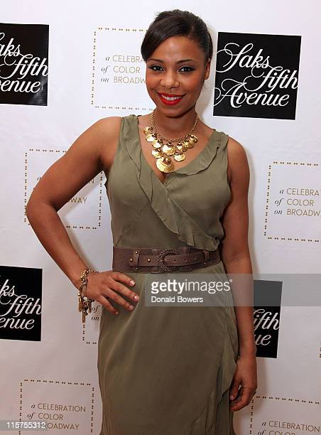 Sanaa Lathan attends the Color of Broadway presented by Saks Fifth Avenue at Saks Fifth Avenue on June 9 2011 in New York City