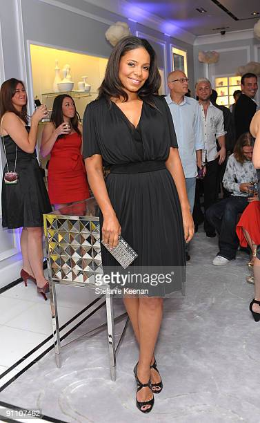 Sanaa Lathan attends the Judith Leiber Rodeo Drive store opening on September 23 2009 in Beverly Hills California