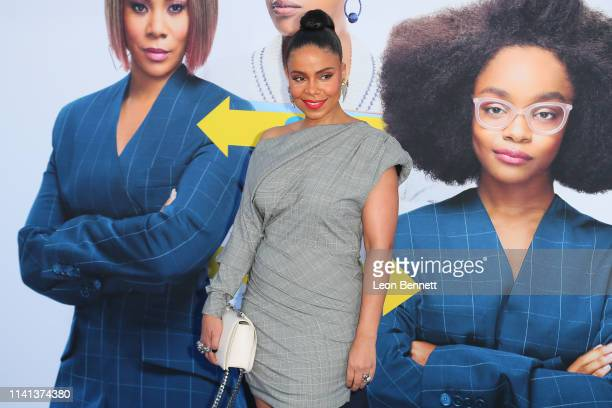 "Sanaa Lathan attends The Premiere Of Universal Pictures ""Little"" at Regency Village Theatre on April 08, 2019 in Westwood, California."