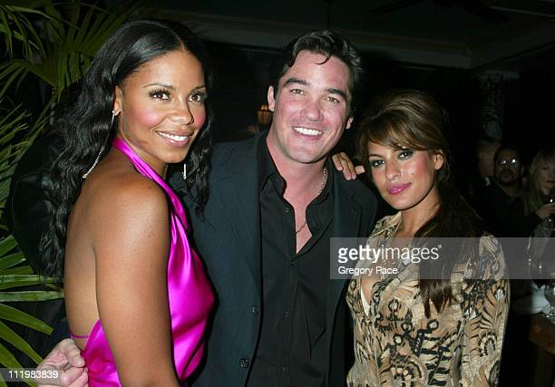 Sanaa Lathan Dean Cain and Eva Mendes during 'Out of Time' New York Premiere After Party at The Boat House Central Park in New York City New York...
