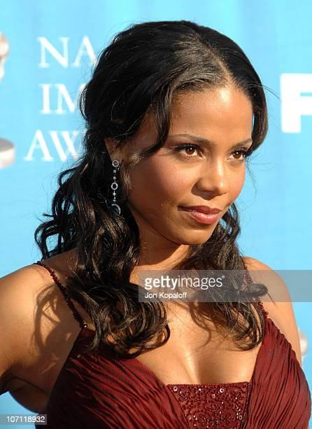 Sanaa Lathan during 38th Annual NAACP Image Awards Arrivals at Shrine Auditorium in Los Angeles California United States