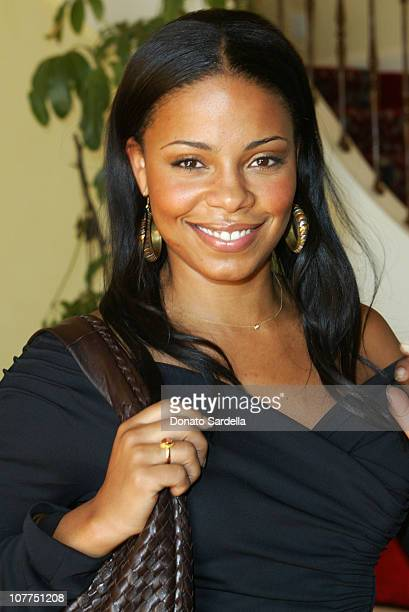Sanaa Lathan during Giorgio Armani Hosts Fashion For The Cure Lunch at Dino De Laurentis House in Beverly Hills California United States
