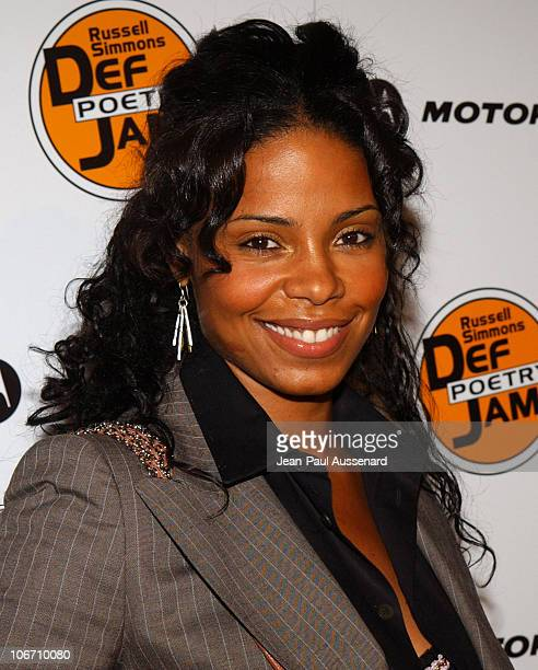 Sanaa Lathan during Russell Simmons and Stan Nathan Host Def Poetry Jam Los Angeles Kick Off For 32 City Tour Arrivals at Wadsworth Theater in...